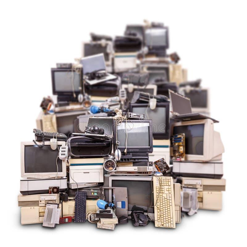 Elektronisk avfalls som är klar för återanvändning royaltyfria bilder