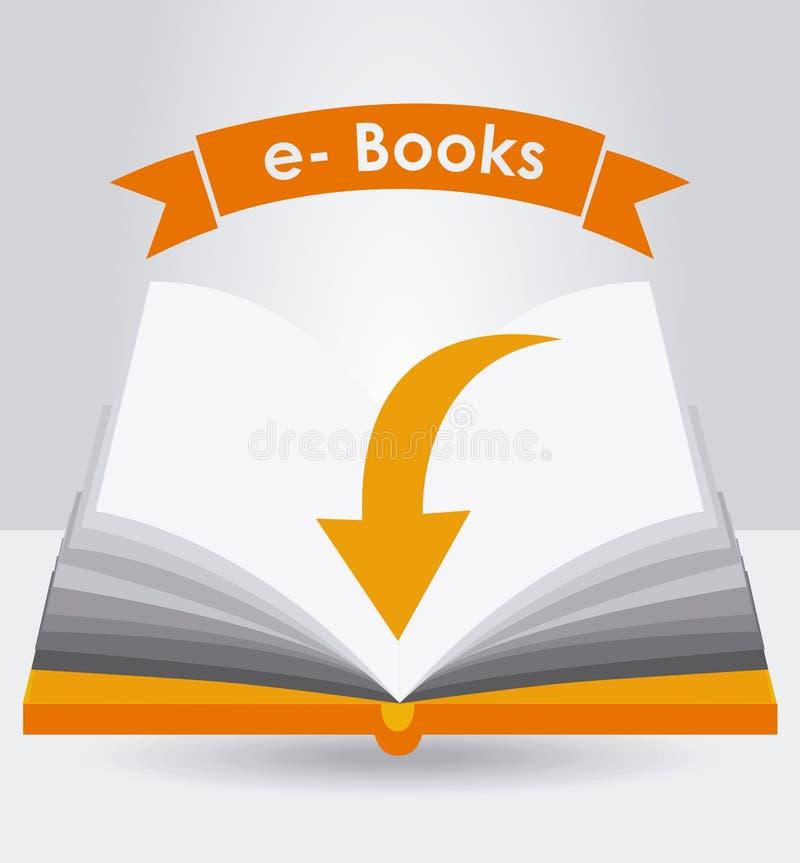Elektronisk bokdesign vektor illustrationer