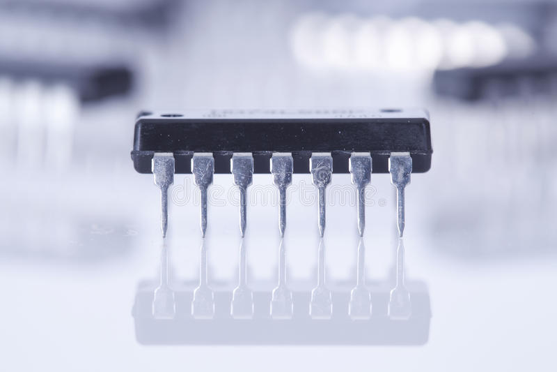 elektronisk chip royaltyfria bilder