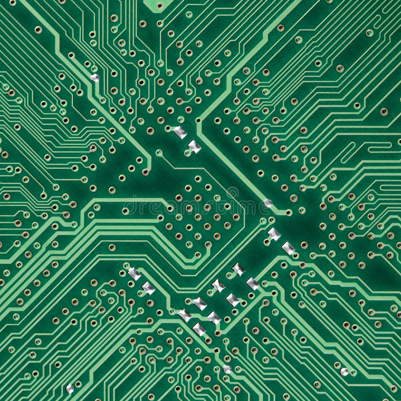 elektronisk fyrkantig textur för brädeströmkrets arkivbild