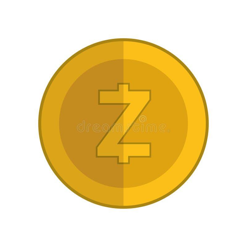 Elektronisk kommers med zcash stock illustrationer