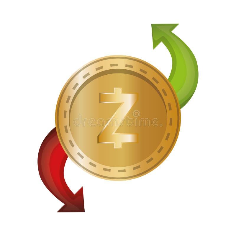 Elektronisk kommers med zcash royaltyfri illustrationer