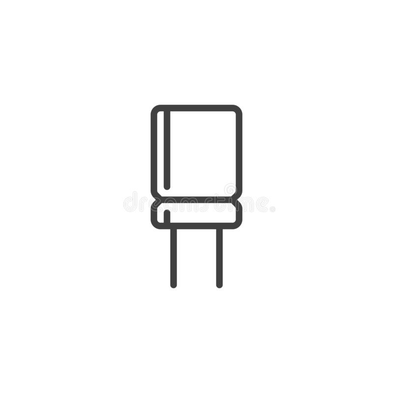 Elektronisk kondensatorlinje symbol vektor illustrationer