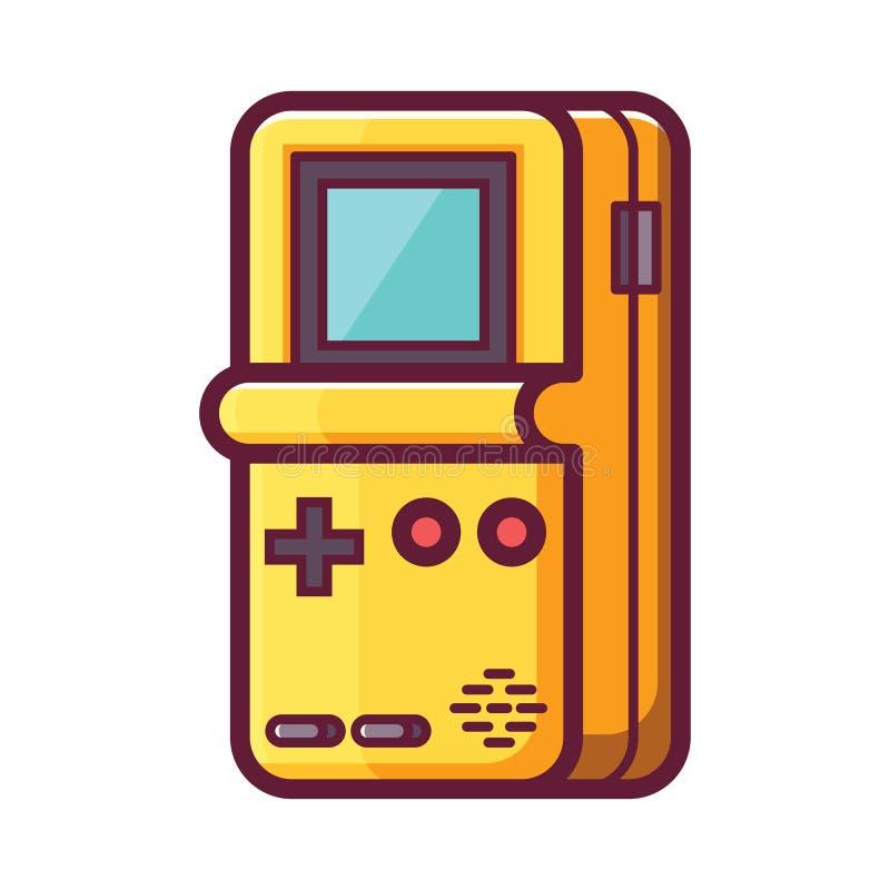 Elektronisk konsol för Retro tegelstenlek stock illustrationer
