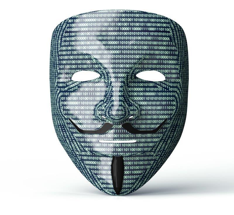Elektronisk maskering av en datoren hacker vektor illustrationer