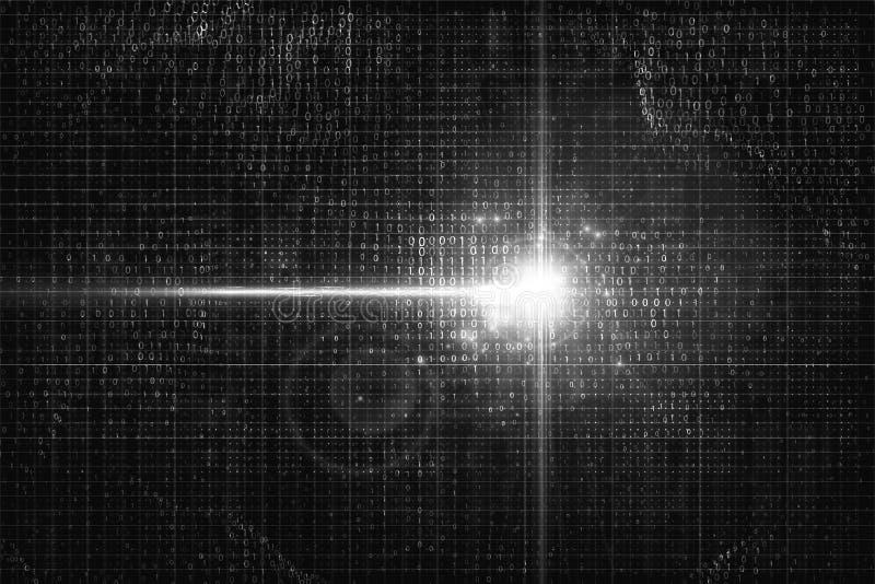 Elektronisk signal i cybervärlden Födelse av konstgjord intelligens vektor illustrationer