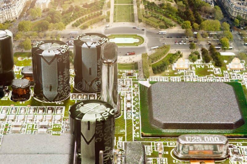elektronisk stad arkivbilder