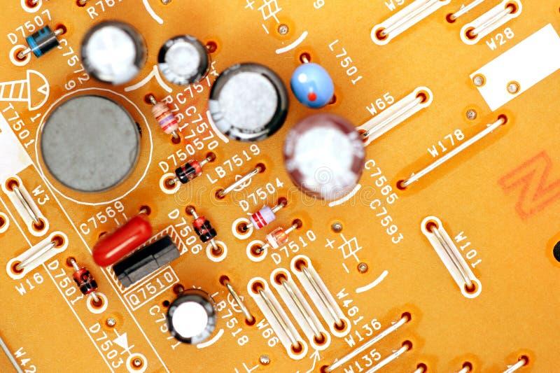 elektronisk strömkrets fotografering för bildbyråer