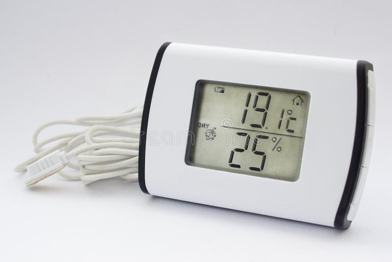 Elektronisk termometerhygrometer royaltyfri fotografi
