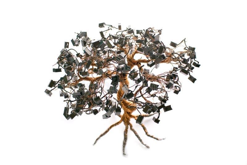 elektronisk tree för bonsai arkivfoto
