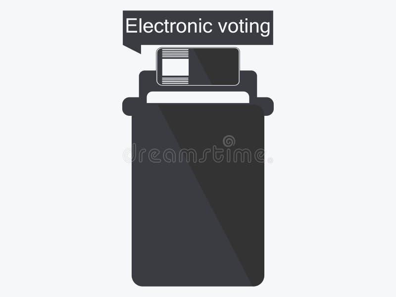 Elektronisk valurnasymbol som isoleras på vit bakgrund Elektronisk röstning vektor stock illustrationer
