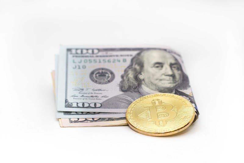 Elektronisk valutabitcoin och kassa arkivfoton