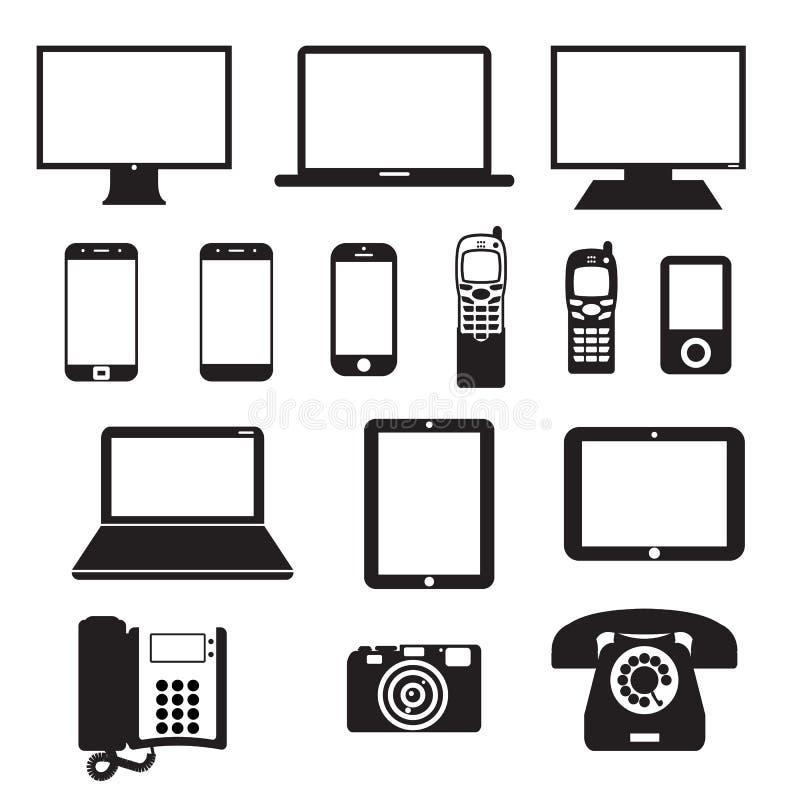 Elektroniska apparater vektor illustrationer