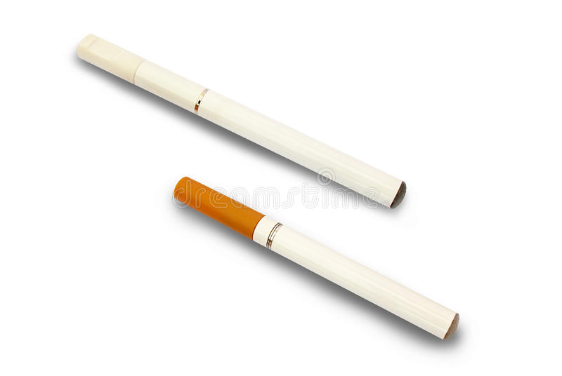 elektroniska cigarettcigaretter e royaltyfri fotografi