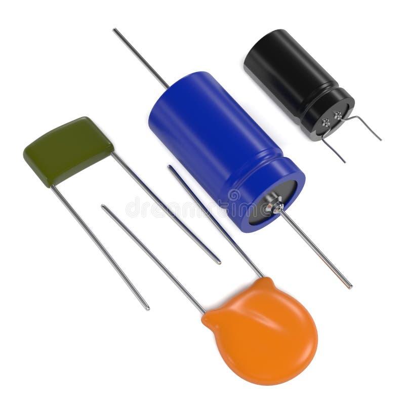 Elektroniska delar för kondensator vektor illustrationer
