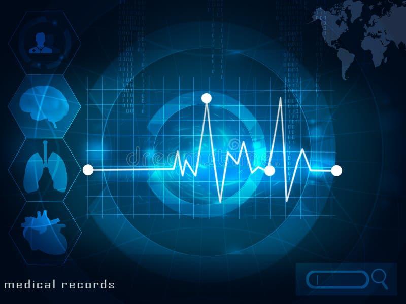 elektroniska läkarundersökningregister vektor illustrationer