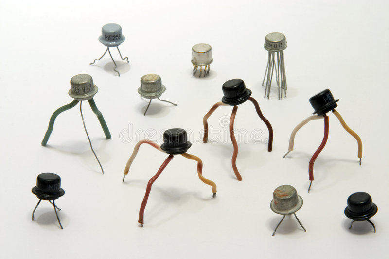 elektroniska transistorer royaltyfria foton