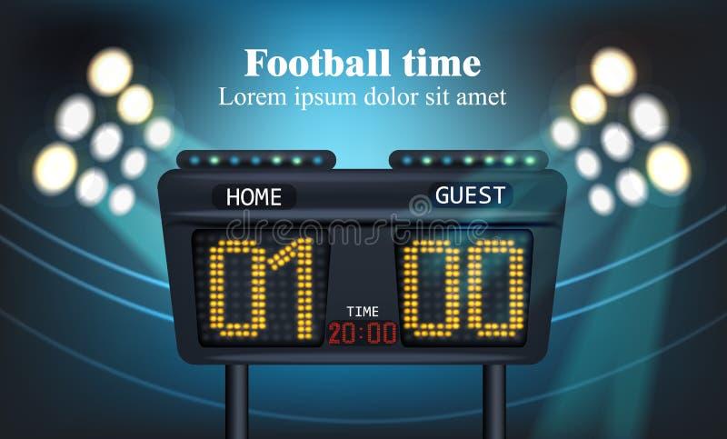 Elektroniskt bräde för vektor för fotbolllekställning royaltyfri illustrationer