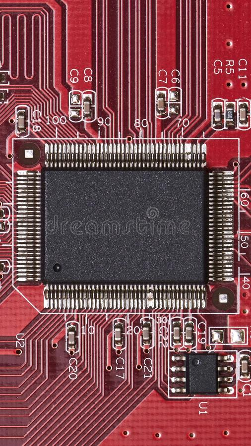 Elektroniskt bräde - maskinvarudelar royaltyfria foton