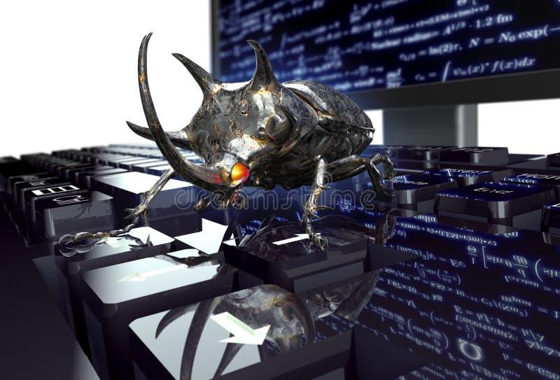 Elektroniskt fel för Digital säkerhetsbegrepp på datortangentbordet royaltyfri illustrationer