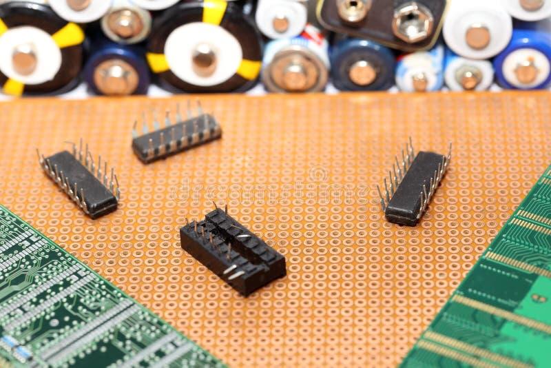 Elektroniskt med datorRAM arkivbild