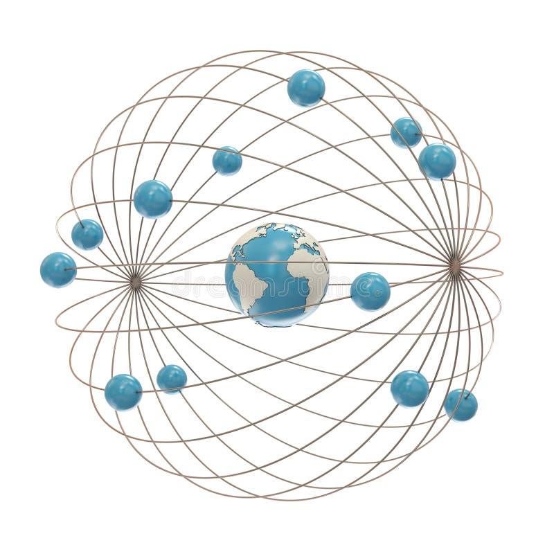 Elektronpfade um den Kern vektor abbildung