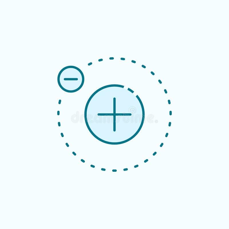 elektronu 2 barwiąca kreskowa ikona Prosta barwiona element ilustracja elektronu konturu symbolu projekt od Scientifics nauki ust royalty ilustracja