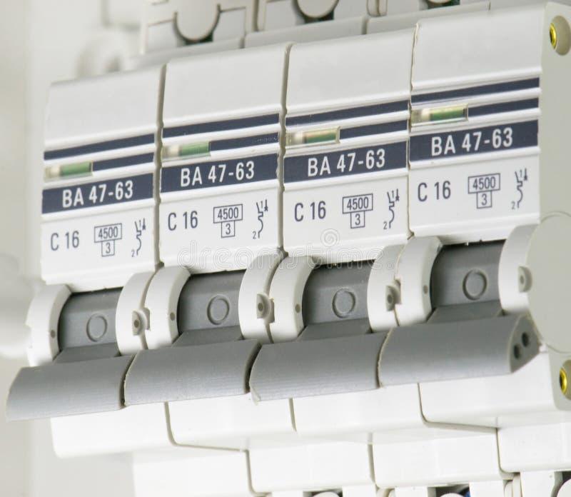 Elektrostroomonderbrekerselektriciteit royalty-vrije stock afbeelding