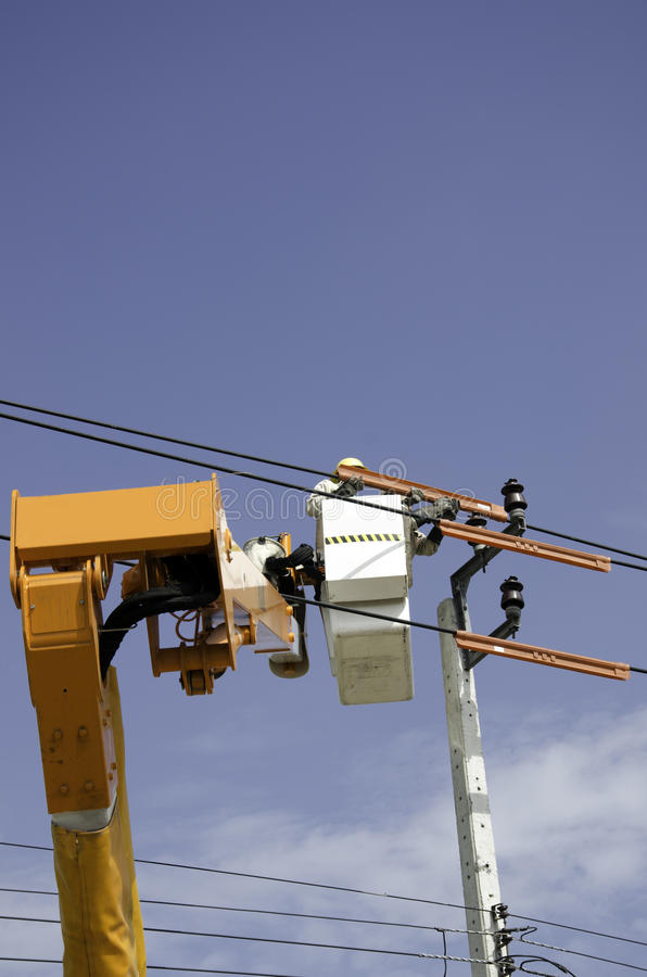 Elektrotechnicus. stock foto's