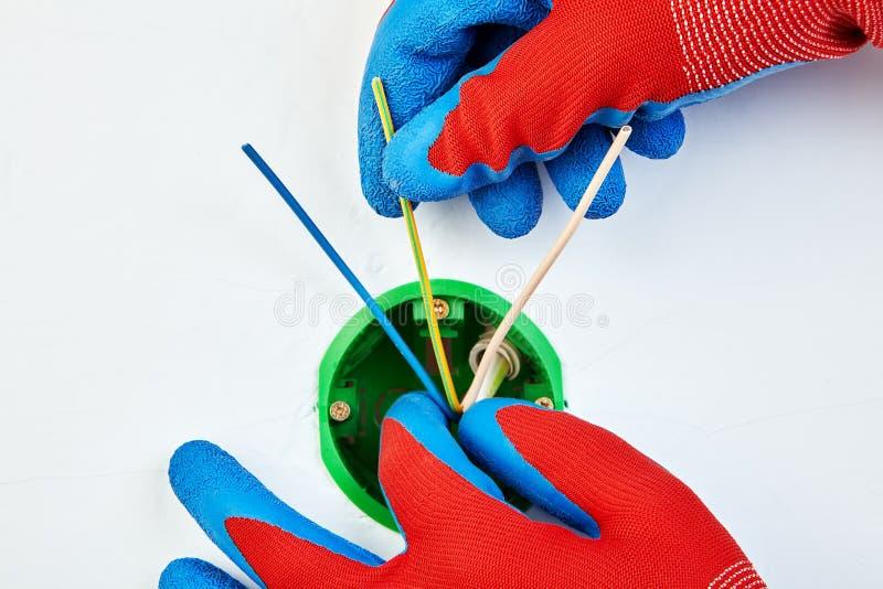 Elektrovergaarbak voor draadverbindingen royalty-vrije stock afbeelding