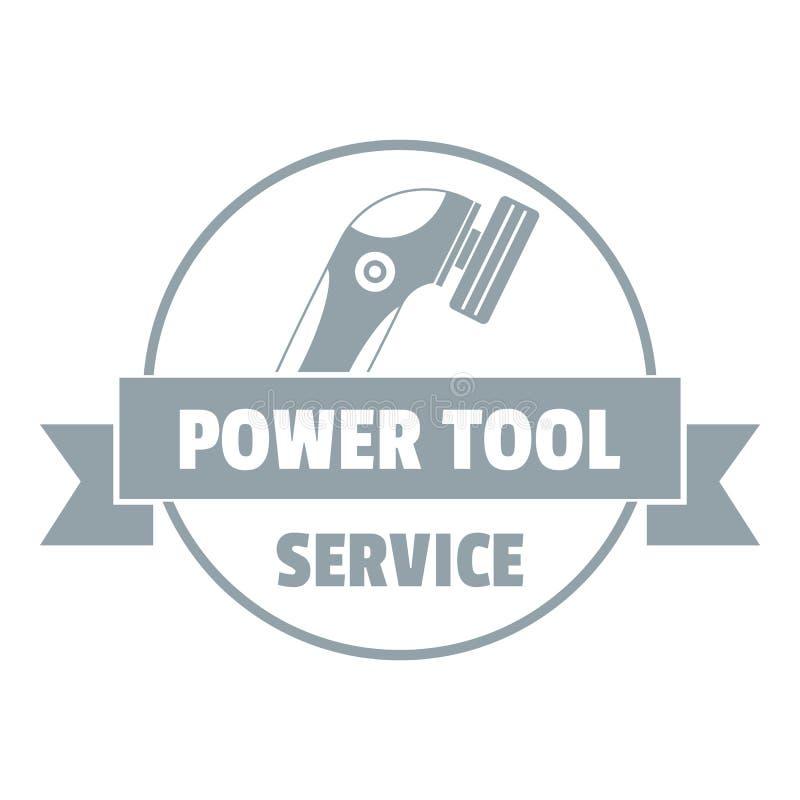 Elektrowerkzeugautologo, einfache graue Art lizenzfreie abbildung