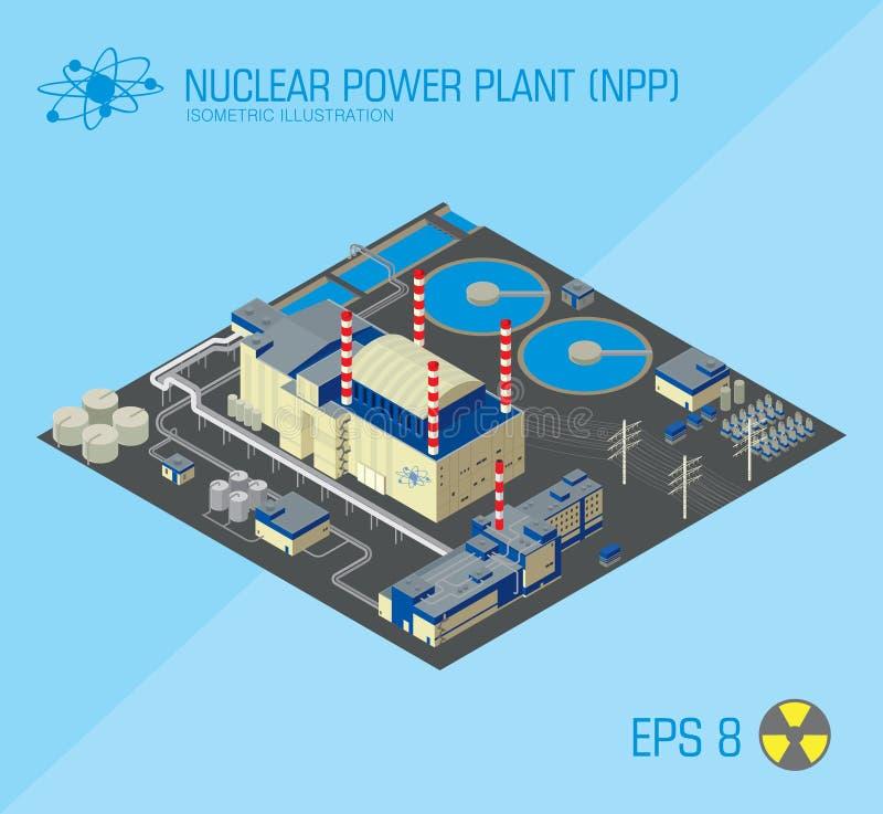 elektrowni jądrowej moc royalty ilustracja