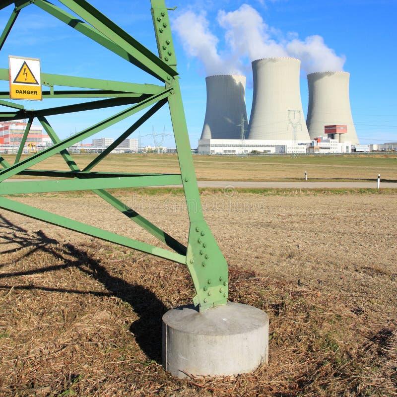 elektrowni nuklearnej władza obrazy stock