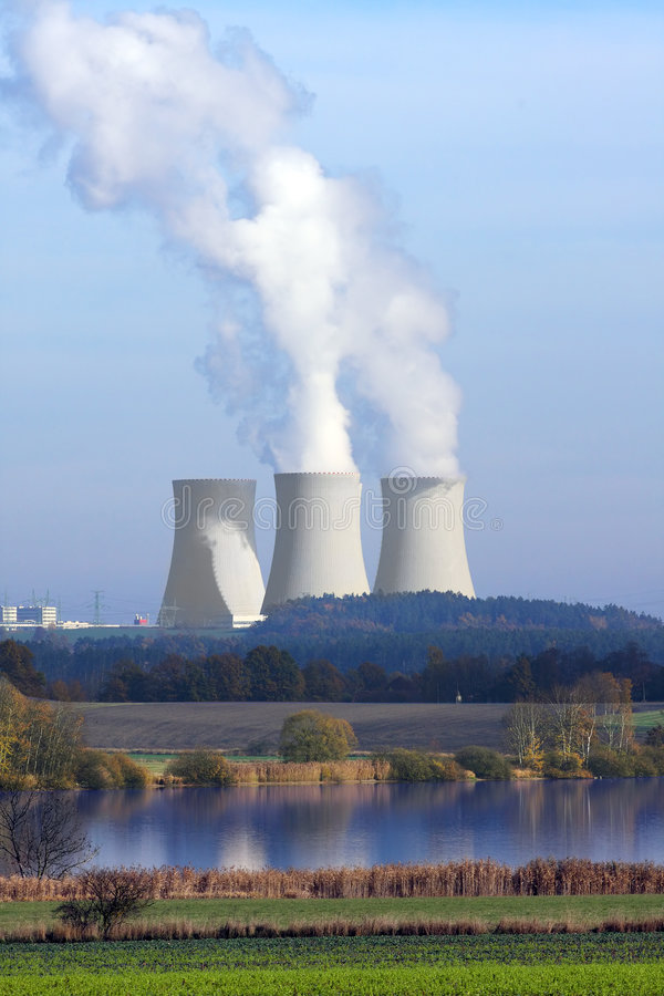 elektrowni nuklearnej władza fotografia royalty free