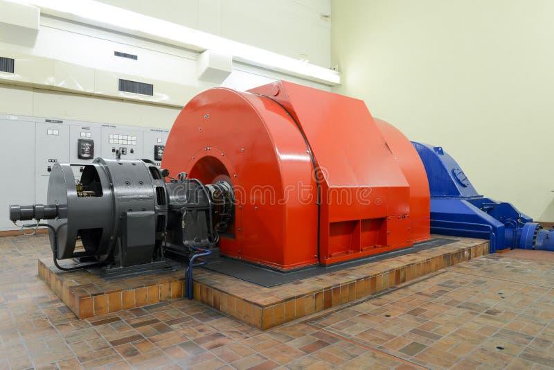 Elektrowni turbina dla produkować elektryczność obraz royalty free