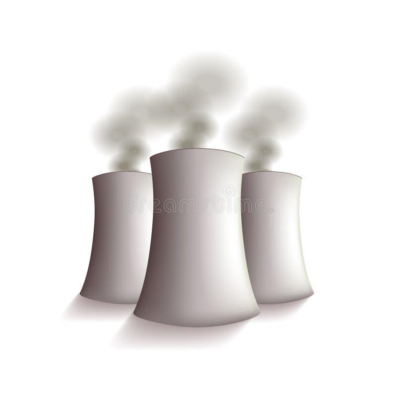 Elektrownia jądrowa wektor royalty ilustracja