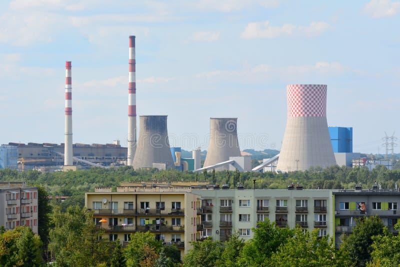 Elektrownia, produkcja energii elektrycznej zdjęcia stock