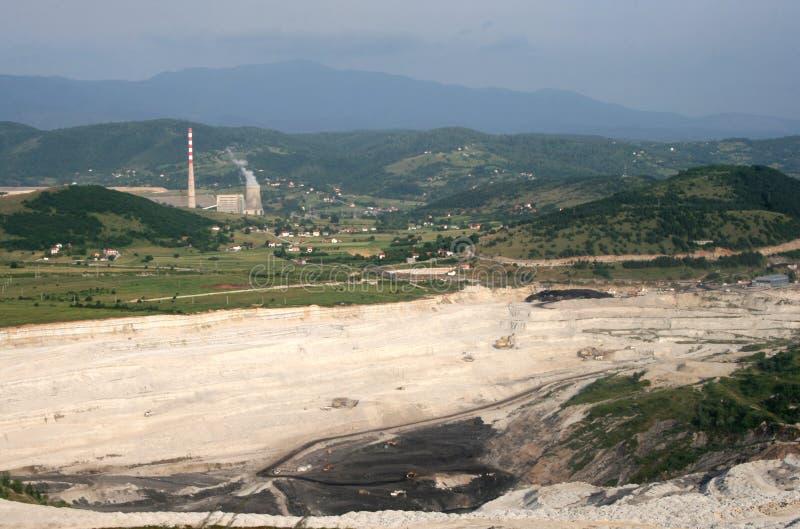 Elektrownia w Pljevlja fotografia stock