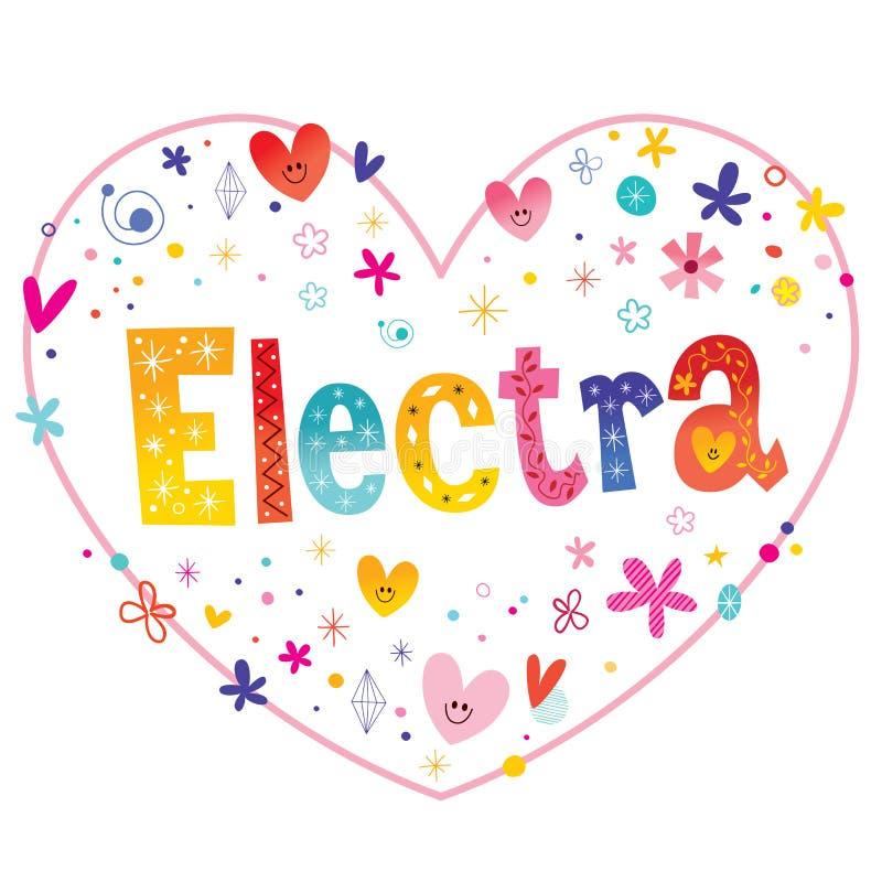 Elektrum dziewczyn imię royalty ilustracja