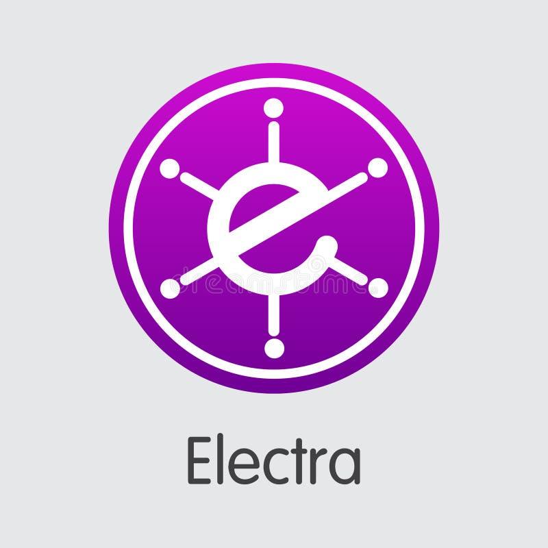 Elektrum Wirtualna waluta - Wektorowy element royalty ilustracja