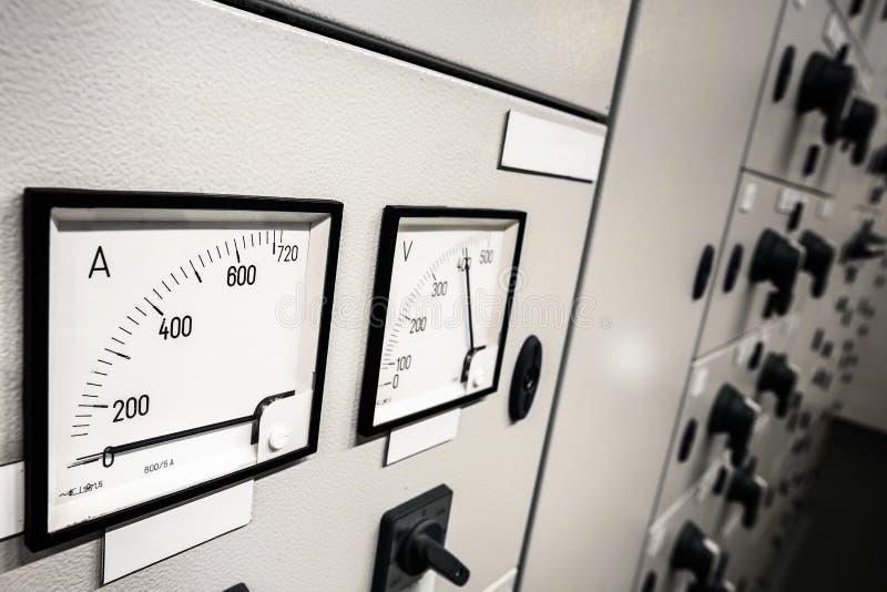 Elektryczna amperage kontrola zdjęcie royalty free