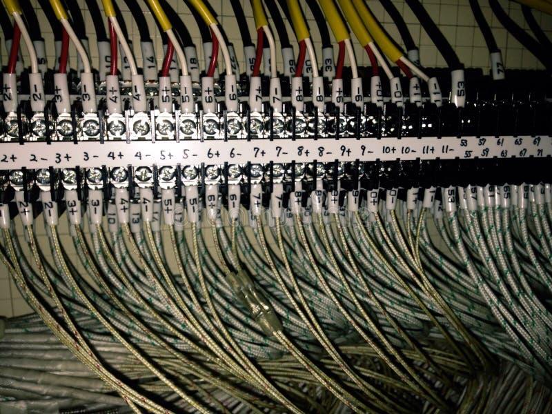 elektryczna drutowania inside foremka obrazy stock