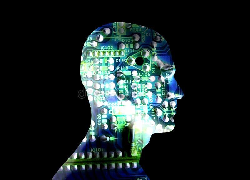 Elektryczna głowa 2 ilustracja wektor
