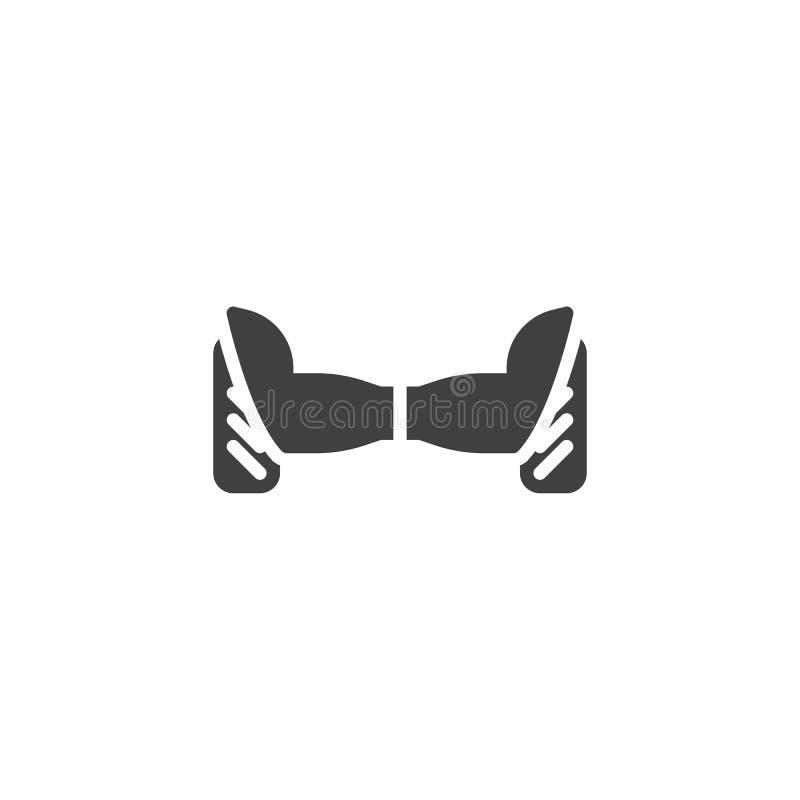 Elektryczna Hoverboard wektoru ikona ilustracji