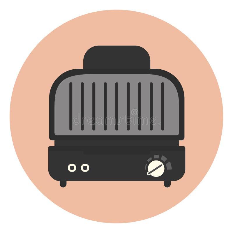 Elektryczna kuchenna ścisła grilla i kanapki prasa royalty ilustracja