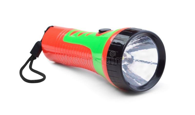 Elektryczna latarka odizolowywająca zdjęcie royalty free