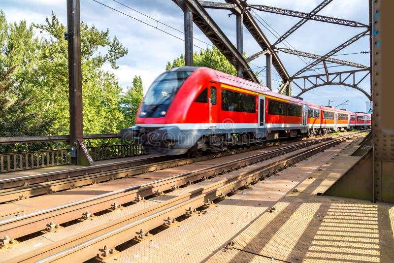 Elektryczna lokomotywa w Frankfurt obrazy royalty free