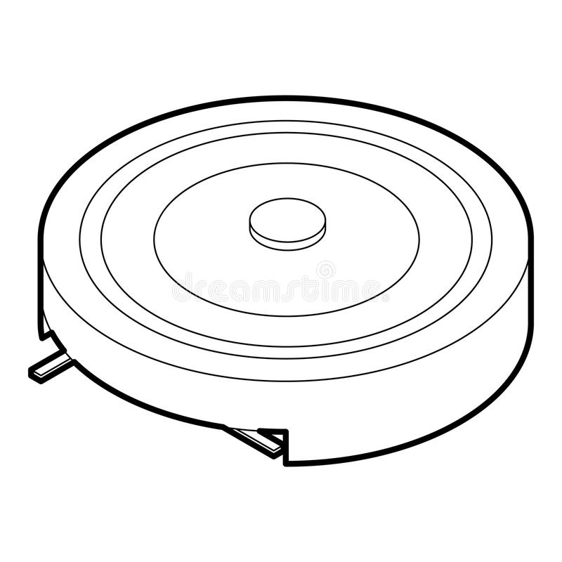 Elektryczna przenośna piecowa ikona, konturu styl ilustracja wektor