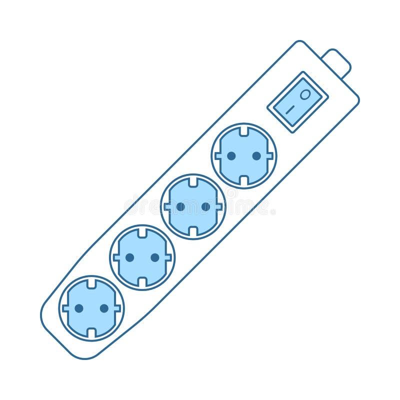 Elektryczna rozszerzenie ikona ilustracja wektor