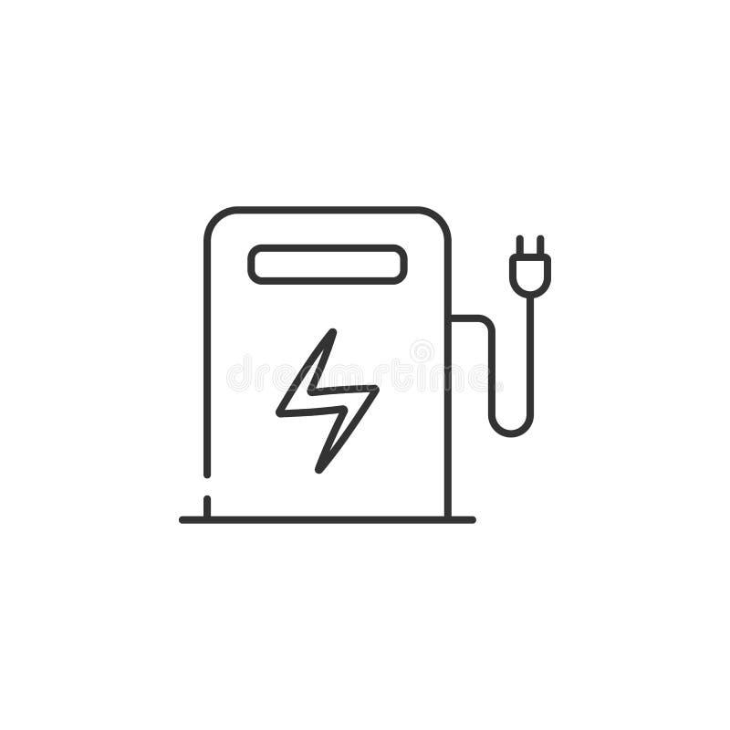 Elektryczna staci paliwowej ikona Prosta element ilustracja Elektryczny stacja paliwowa symbolu projekt od ekologii kolekci setu  ilustracja wektor